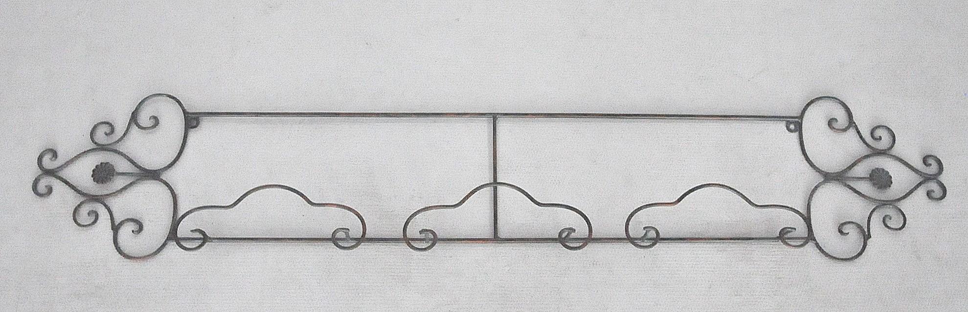 Porte assiettes en fer forg grand model demeure et jardin for Model porte en fer forge