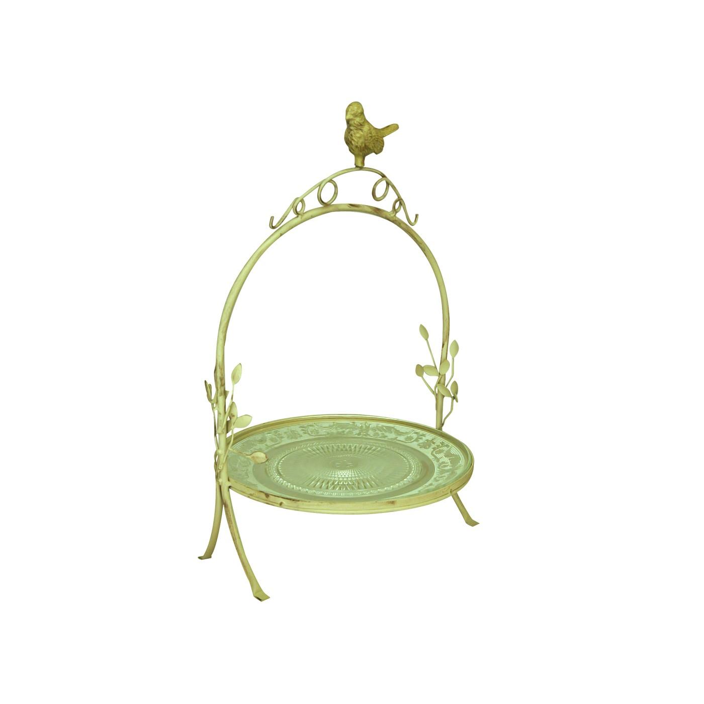 serviteur fer forg plateau verre demeure et jardin. Black Bedroom Furniture Sets. Home Design Ideas