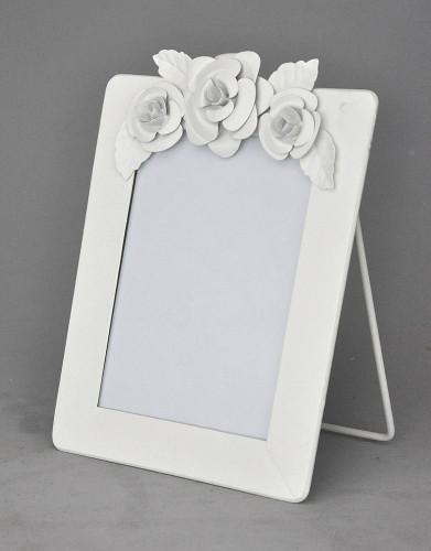 cadre blanc vertical fleurs demeure et jardin. Black Bedroom Furniture Sets. Home Design Ideas