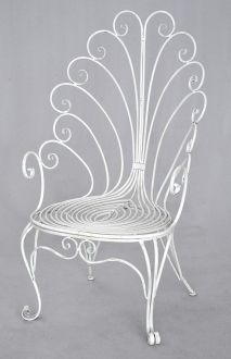 fauteuil fer forge trone collection paon demeure et jardin. Black Bedroom Furniture Sets. Home Design Ideas