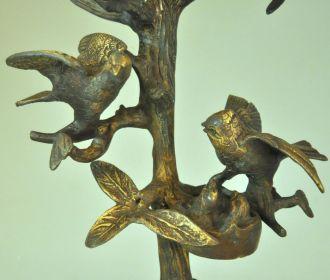 bougeoir 5 branches oiseaux demeure et jardin. Black Bedroom Furniture Sets. Home Design Ideas