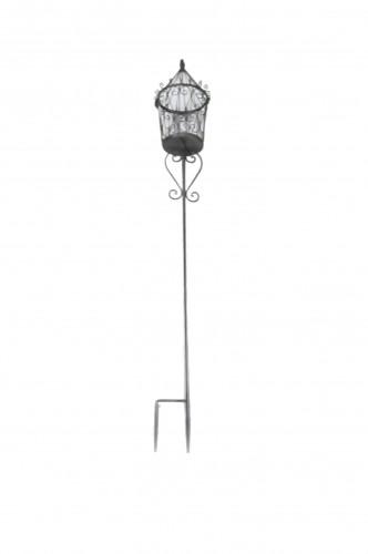 Photophore Lanterne De Jardin Piquer En Fer Forg