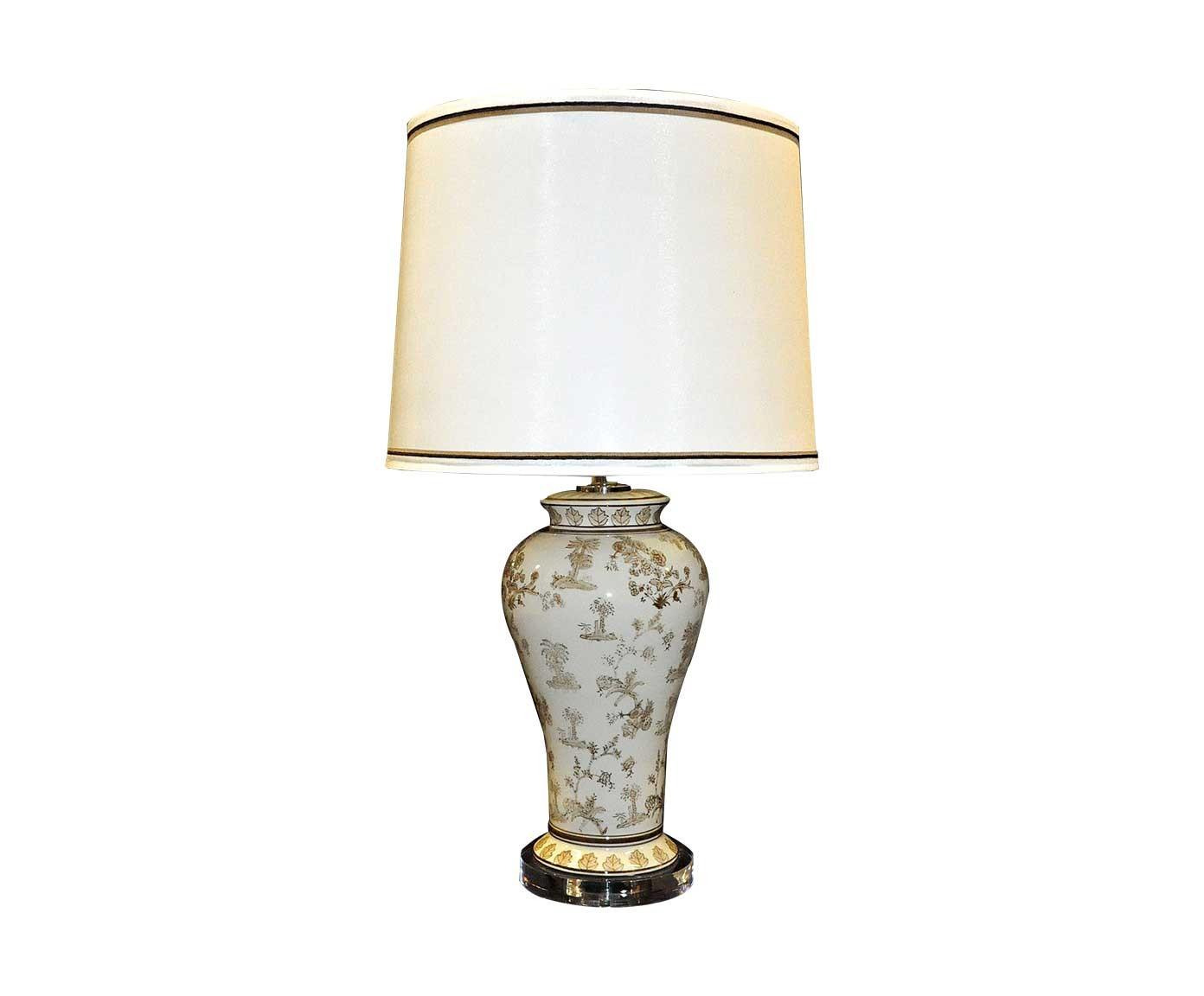 Lampe de style chinoise beige demeure et jardin for Lampe ambiance et style