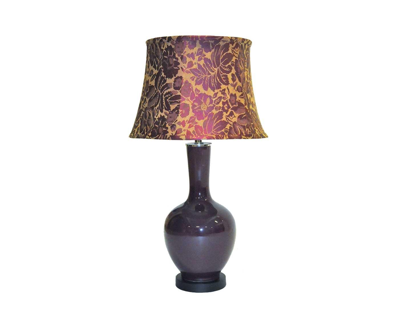 Lampe aubergine demeure et jardin for Belle lampe de salon