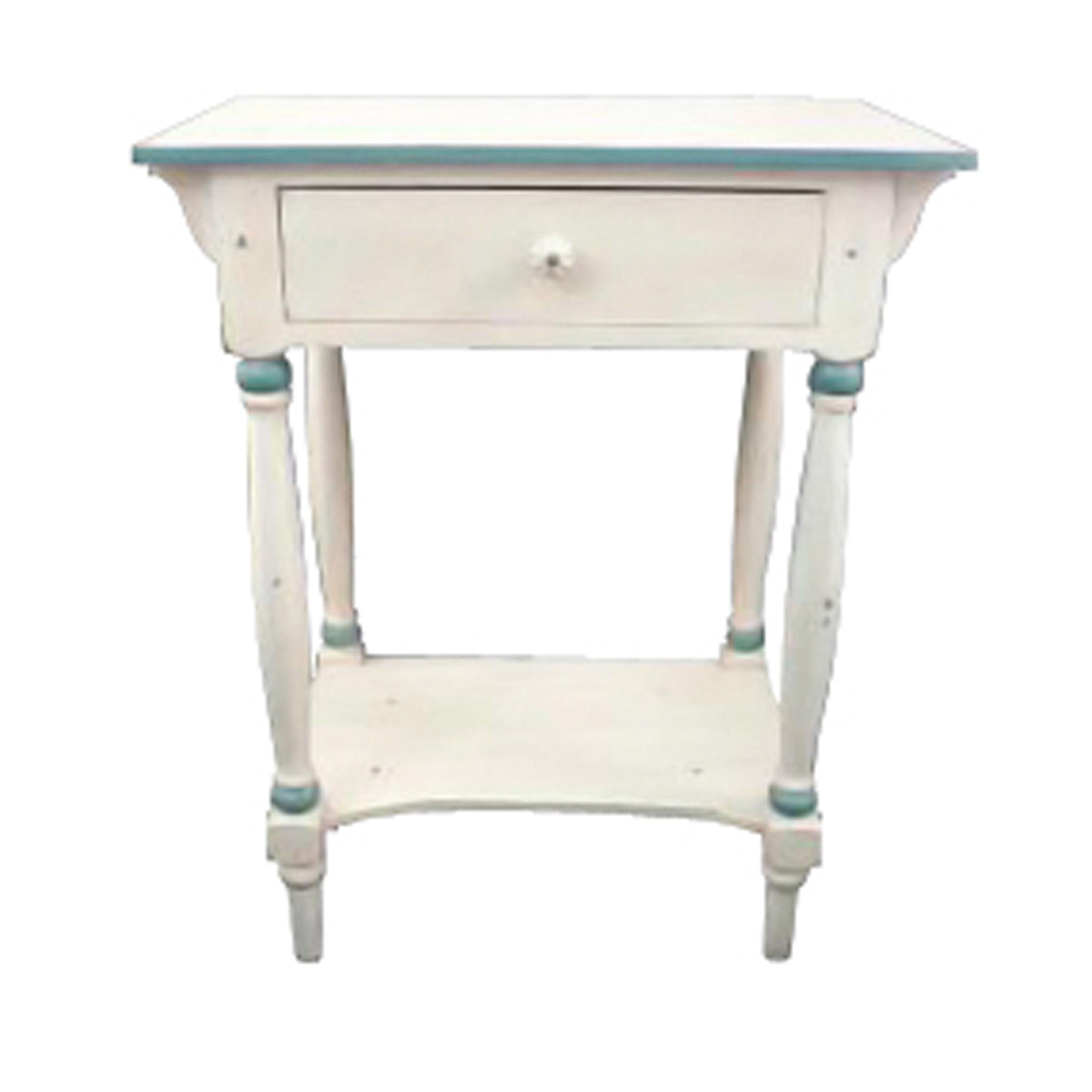 Chevet filet bleu demeure et jardin - Table de chevet bleu ...