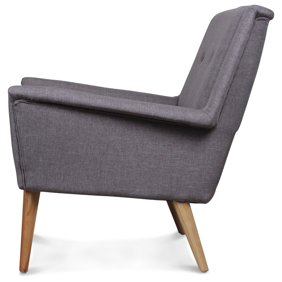 Fauteuil Design Scandinave Moderne Gris Souris Fitz Demeure Et Jardin