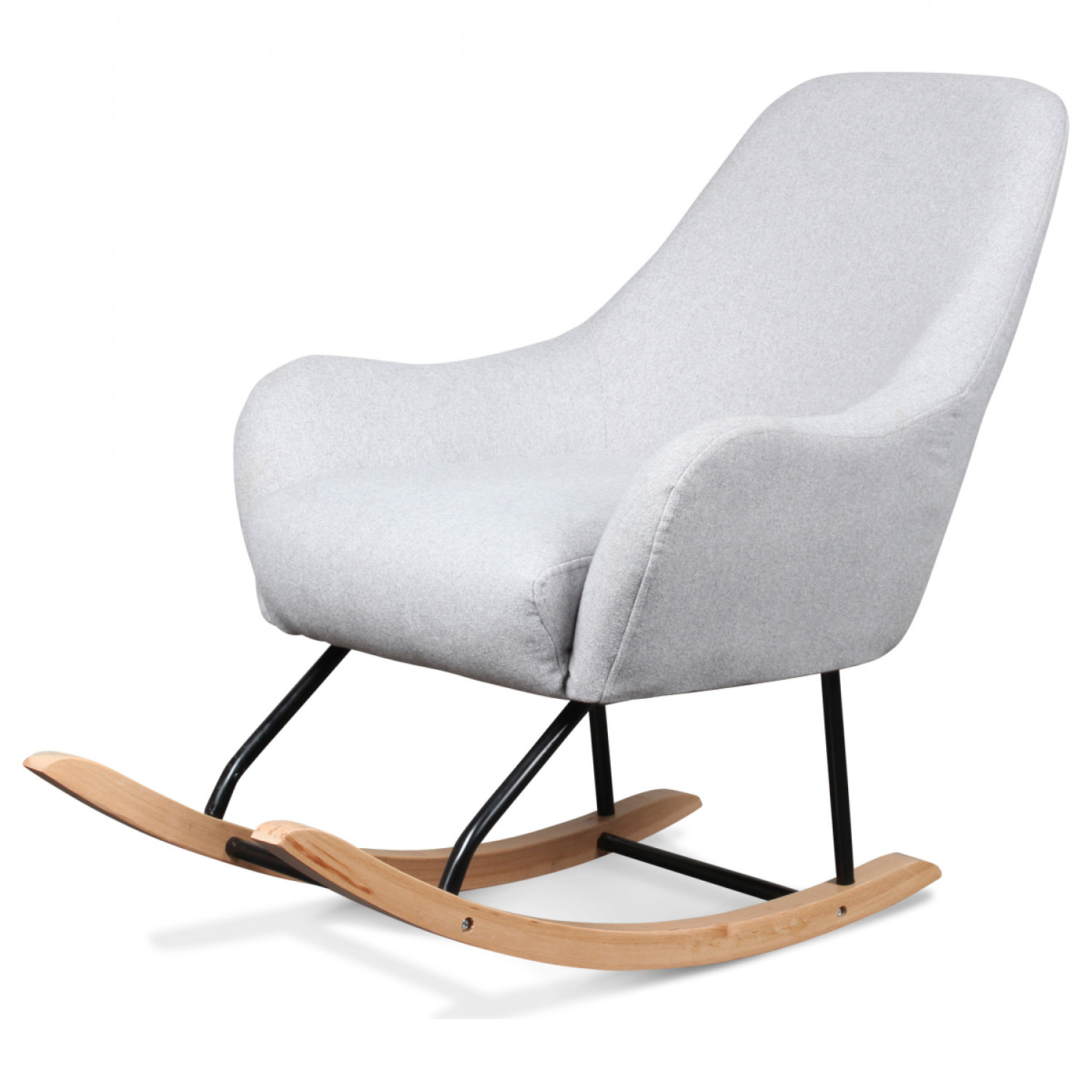 fauteuil rocking chair design scandinave bois et m tal. Black Bedroom Furniture Sets. Home Design Ideas