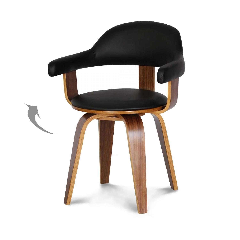Chaise design scandinave rotative noire py riv demeure et jardin - Chaise noire et bois ...