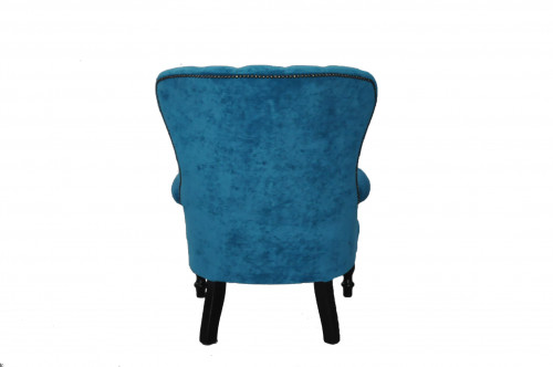 fauteuil capitonn teal bleu demeure et jardin. Black Bedroom Furniture Sets. Home Design Ideas