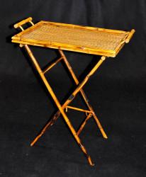 Table d'appoint pliante en bambou