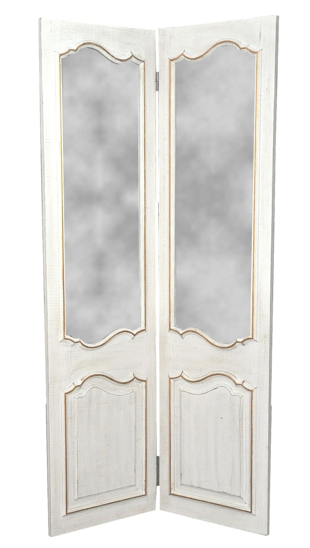 paravent miroir 2 feuilles demeure et jardin. Black Bedroom Furniture Sets. Home Design Ideas