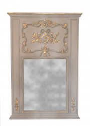 Trumeau style Louis XVI gris