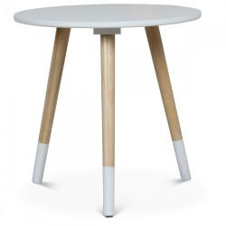 Table basse scandinave blanche GJÖKTÀ - diamètre 40 cm