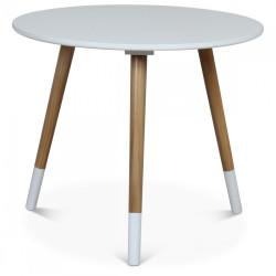 Table basse scandinave blanche FÜSKIT - diamètre 50 cm