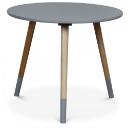 Table basse scandinave grise FÜSKIT - diamètre 50 cm