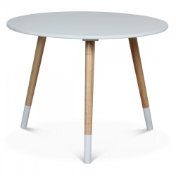 Table basse scandinave blanche BRÜDVIK - diamètre 60 cm