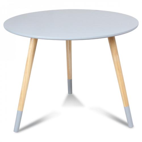 table basse scandinave bleu gris br dvik diam tre 60 cm