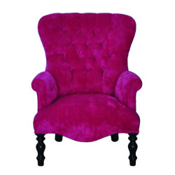 Fauteuil Velours Bright Pink