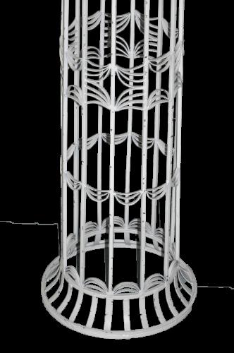 Colonne ronde en fer forgé blanc