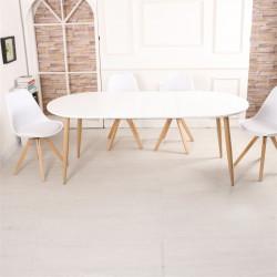 Table de salle à manger extensible blanche SYÖGÄ
