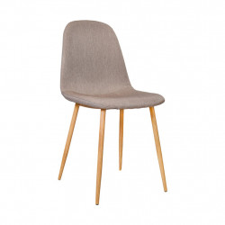 Chaise design métal taupe style scandinave VANKA