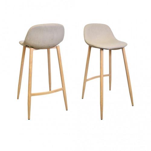 tabouret de bar beige k rke demeure et jardin. Black Bedroom Furniture Sets. Home Design Ideas