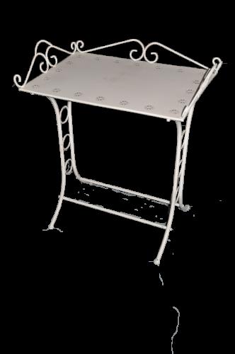 Table de toilette blanc antique