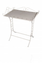 Table de toilette en fer blanc antique