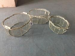 Set de 3 paniers à huîtres