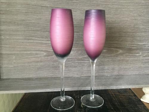 Flûtes à champagne design mauves set de 4