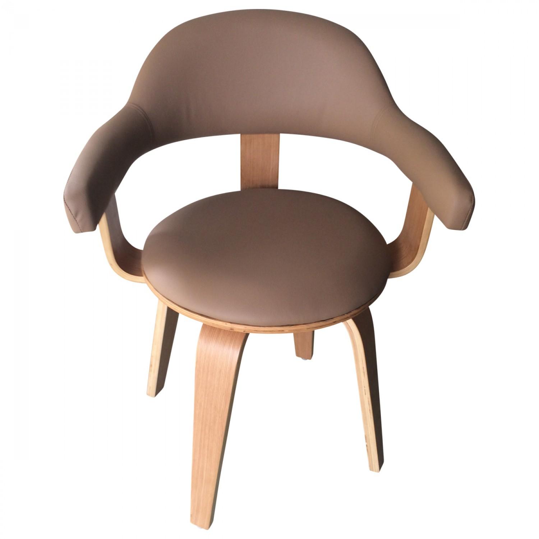 chaise pivotante simili cuir beige py riv demeure et jardin. Black Bedroom Furniture Sets. Home Design Ideas