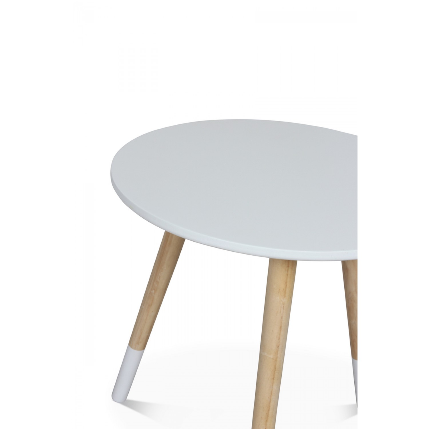 table basse scandinave blanche gj kt diam tre 40 cm demeure et jardin. Black Bedroom Furniture Sets. Home Design Ideas