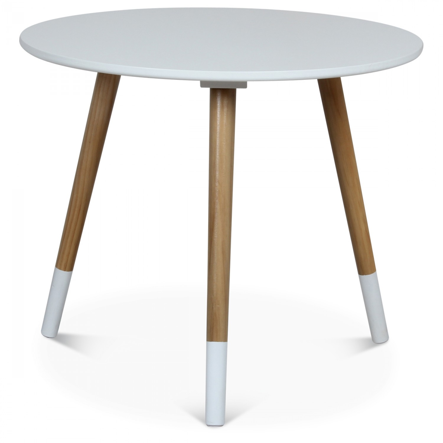 Table Basse Scandinave Blanche F Skit Diam Tre 50 Cm Demeure  # Table Basse Scandinave Laque