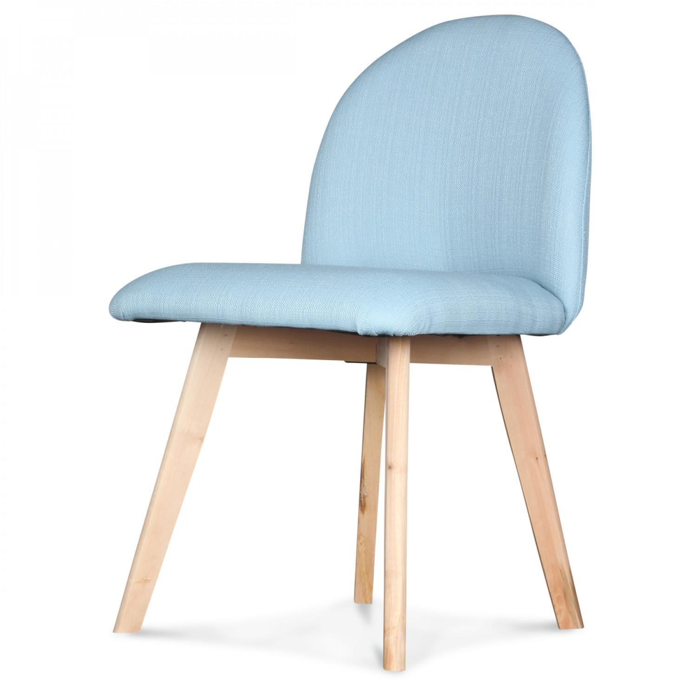 chaise scandinave bleue hankl demeure et jardin. Black Bedroom Furniture Sets. Home Design Ideas