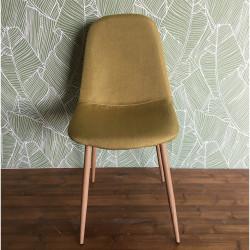 Chaise design métal style scandinave VANKA - Anis
