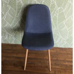 Chaise design métal style scandinave VANKA - Gris bleu