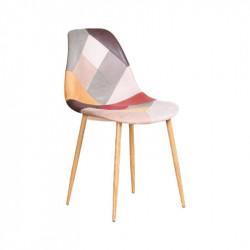 Chaise ULVILA de style scandinave patchwork