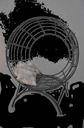 Fauteuil boule design de jardin en fer forgé