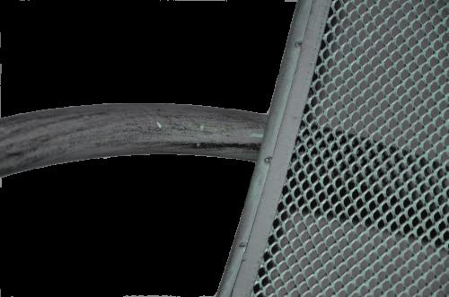 Chaise longue en fer forgé