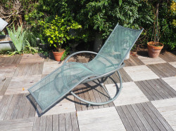 Chaise longue design en fer forgé
