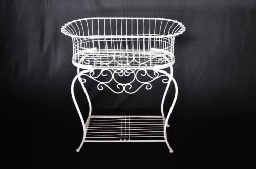 jardini re blanche grand mod le fer forge demeure et jardin. Black Bedroom Furniture Sets. Home Design Ideas