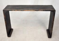 Console bois design Noire patinee