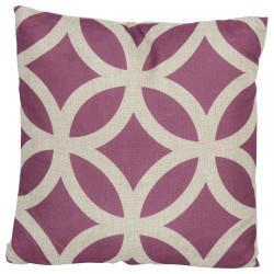Coussin couleur prune - 45x45 cm