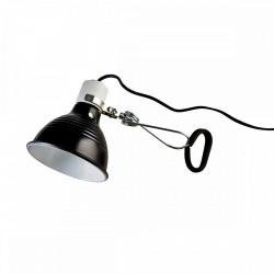 Lampe pince en métal noir - diamètre 14 cm