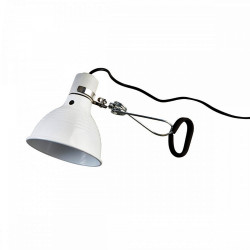 Lampe pince en métal blanc