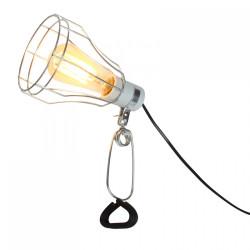 Lampe pince cage en métal
