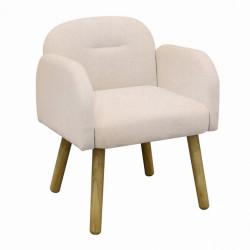 Fauteuil design style scandinave Brimir couleur crème