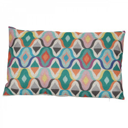 Coussin Style vintage multicolore