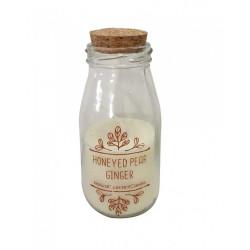 Bougie bouteille Miel de poire et gingembre