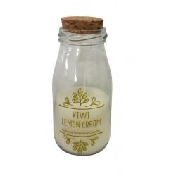 Bougie bouteille Kiwi & crème de citron